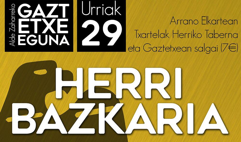 ALDE ZAHARREKO GAZTETXE EGUNEKO HERRI BAZKARIA